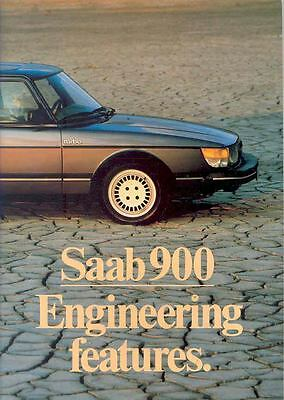 1983 Saab 900 & Turbo Engineering Features Brochure x6442-QBSD7D