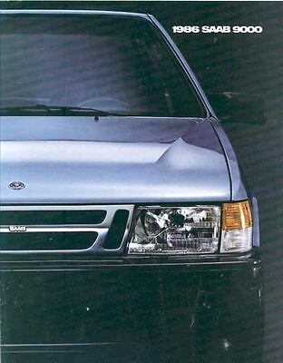 1986 Saab 9000 Turbo Sales Brochure x6524-E5QKN2