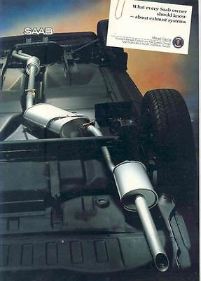 1987 Saab 9000 & Turbo Exhaust System Sales Brochure x6550-ADPUBN