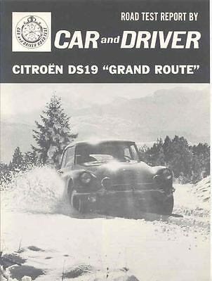 1964 Citroen DS 19 Grand Route Sales Brochure x6807-BYHNIN