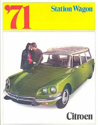 1971 Citroen D21 Wagon Sales Brochure x7136-P1KB6K