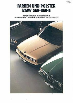 1991 BMW Upholstery & Color Sales Brochure x821-OXSC35