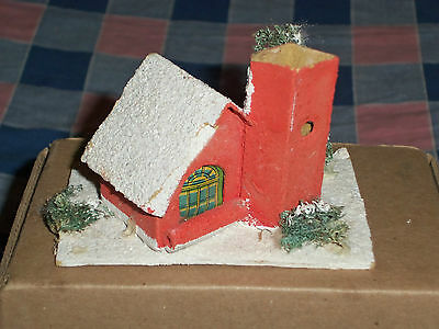l. Vintage Japan Christmas House Building 2 1/2 Inches High