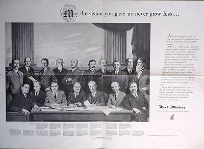 1946 Nash Executives Founding Fathers Ad Proof Poster p2735-S36F8G
