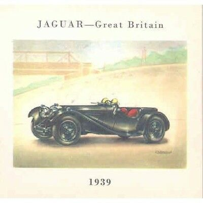 1939 Jaguar SS100 Sports Roadster Cigarette Card po1429-BGG7CB