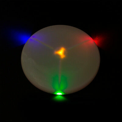 1 LED Frisbee multicolor leuchtend, blinken, Sport, Party, Spass, Leucht scheibe