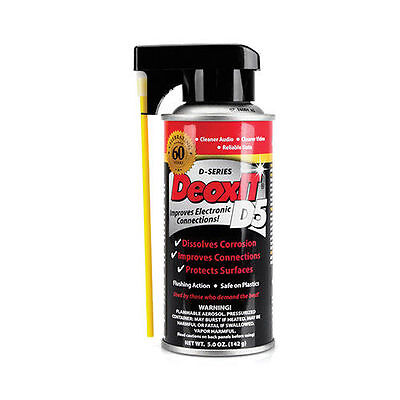 Caig Deoxit D5 Contact Cleaner Spray | Beware Of Grey Imported Cans