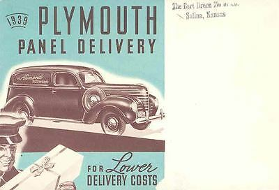 1939 Plymouth Panel Delivery Brochure 35285-DBUIDX
