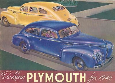 1940 Plymouth Deluxe Brochure 51053-PFJAVD