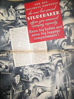 1936 Studebaker Business Coupe Brochure 51332-953ICC