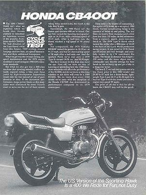 1980 Honda CB400T Motorcycle Brochure 55691-CAPXMD