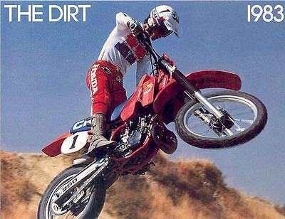 1983 Honda Dirt Bike Motorcycle Brochure 55861-ILVU9B