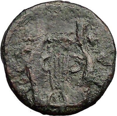 OLYNTHOS under the CHALKIDIAN LEAGUE 348BC Apollo Lyre Ancient Greek Coin i31834