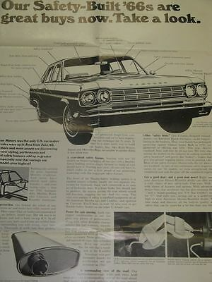 1966 AMC Rambler Safety Poster 62381-41WQ32