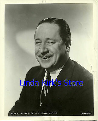 "Robert Benchley Promotional Photograph ""The MGM Parade"" B&W 1955"
