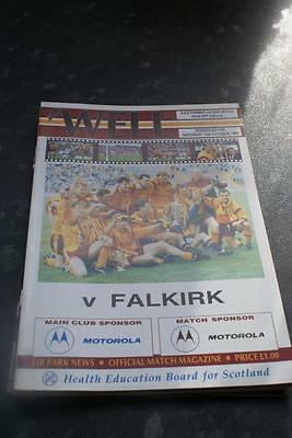 Motherwell V Falkirk  October 12, 1991