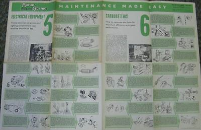 1960 Motorcycle Electrical Equipment Maintenance Chart  67145-ZHWLMZ