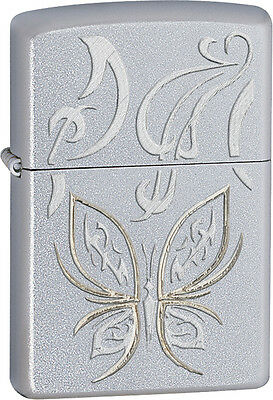 Zippo Lighter Golden Butterfly Personalised Free
