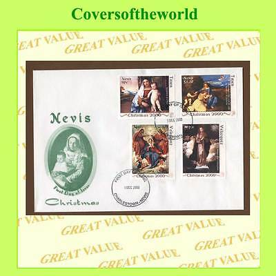Nevis 2000 Christmas set on First Day Cover