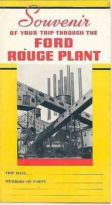 1936 Ford Rouge Plant Tour Brochure Poster wr0607-JBUERY