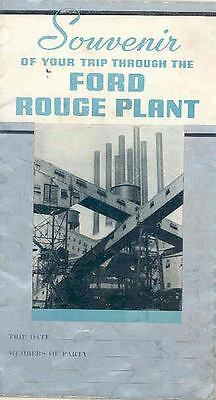 1939 Ford Rouge Plant Tour Brochure Poster wr0613-7TYJJJ