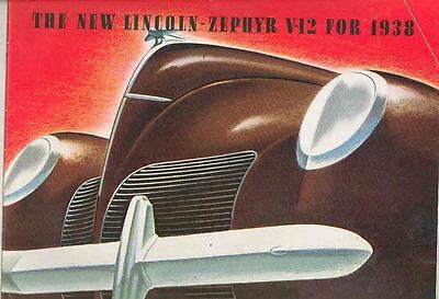 1938 Lincoln Zephyr Prestige Brochure Revised 3/38 wr0936-GY51Z8