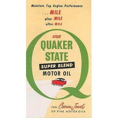 1962 Quaker State Super Blend Motor Oil Brochure wr1002-WGS6C3