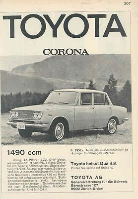 1966 Toyota Corona Ad Switzerland German wr2823-U71YFR
