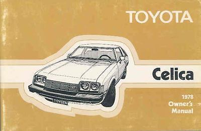 1978 Toyota Celica Owner's Manual wr2993-KNTF4G