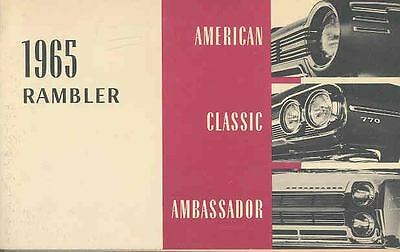 1965 AMC Rambler Owner's Manual Finland Export wr3069-T2VHYS