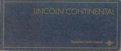 1968 Lincoln Owner's Manual NOS Packet wr3150-Q8MF9Q