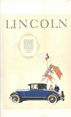 1926 Lincoln Judkins Coupe Factory Ad Proof Poster wr4690-U89T69