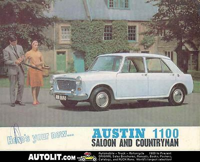 1965 Austin 1100 Saloon & Station Wagon Sales Brochure mw3238-P489RW