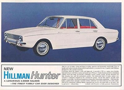 1967 Hillman Hunter Sales Brochure mw4226-IYJJ4I