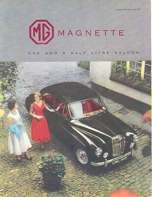 1957 MG Magnette Sales Brochure mw4452-JXUFZE