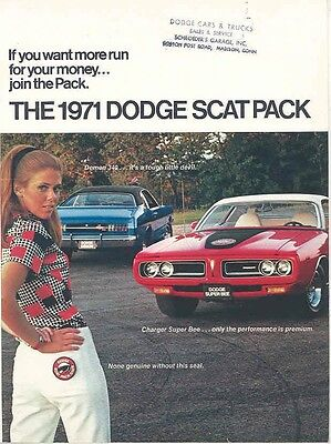 1971 Dodge Scat Pack Challenger TA Charger Brochure mw4532-G69P2G