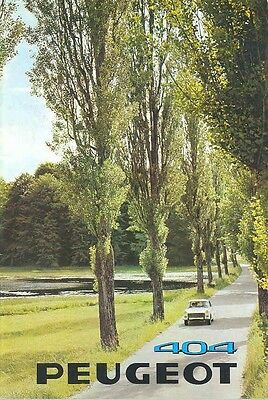 1969 Peugeot 404 Sales Brochure French mw4889-ABNPYI