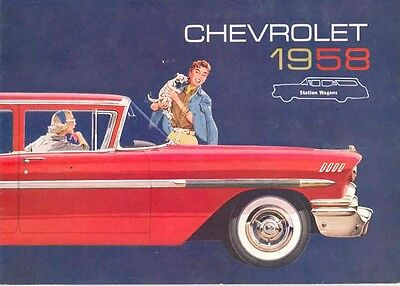 1958 Chevrolet Station Wagon Brochure Nomad Brookwood mw5083-6UC9MV