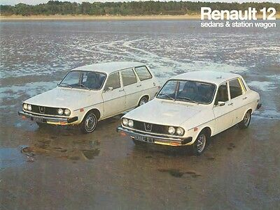 1974 Renault 12 Sedan & Station Wagon Sales Brochure mw5223-T3Q2IT