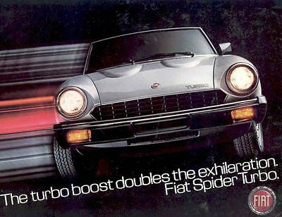 1981 Fiat Spider 2000 Turbo Brochure Jody Scheckter mw5693-FAS3O5