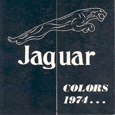 1974 Jaguar XKE Colors & Interiors Sales Brochure mw5728-VOKHLB