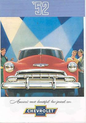 1952 Chevrolet Sales Brochure Convertible Bel Air mw5873-GPADVW