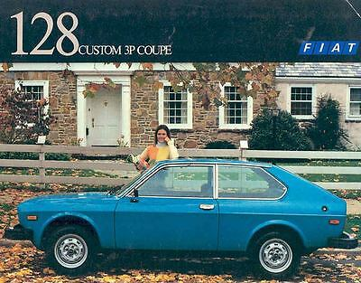 1977 Fiat 128 Custom 3P Coupe Sales Brochure mw6802-4NOIXJ