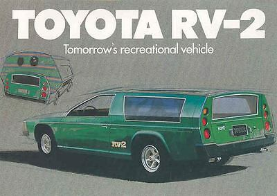 1973 Toyota RV 2 Recreational Vehicle Concept Brochure mw6927-MUKDDD