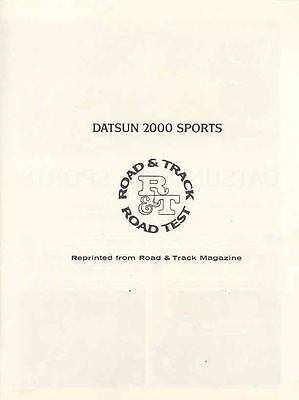 1967 Datsun 2000 Sports Sales Brochure mw7636-VKTPZI