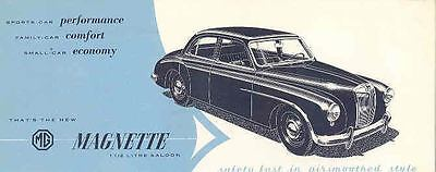 1956 MG Magnette Saloon Sales Brochure mw7817-GCBKCH