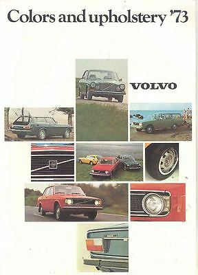 1973 Volvo Paint Color & Upholstery Brochure 144 1800ES mw8276-I41ASW