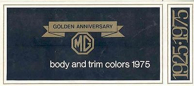 1975 MG Body & Trim Colors Sales Brochure mw8543-Q27WLP
