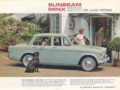 1966 Sunbeam Minx 1600 DeLuxe Sales Brochure mw8895-J6RV4L
