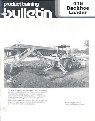 1985 Caterpillar 416 Construction Loader Brochure mw7363-SLZNHZ